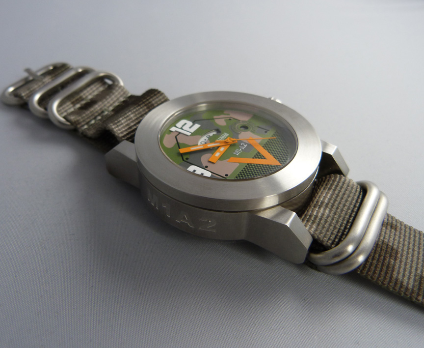 Morpheus M1A2 tank watch with nato camo strap