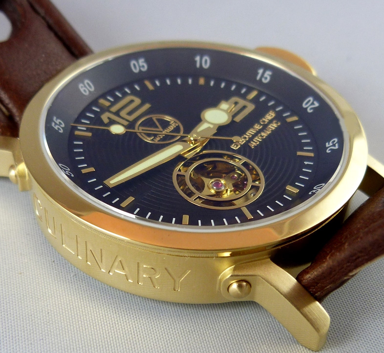 Gold Culinary watch cordon bleu graduation gift