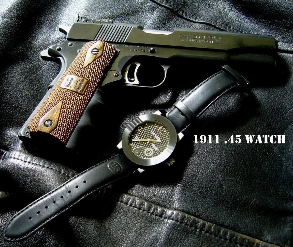 morpheus 1911 pistol wristwatch with swiss quartz movement