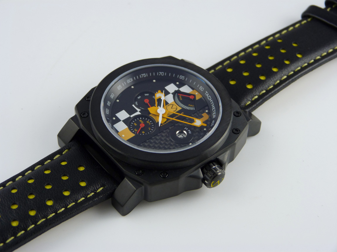 veloce giallo racing watch