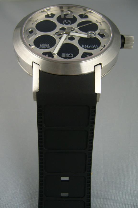 Cinema Watch with Film Strip Textured Strap