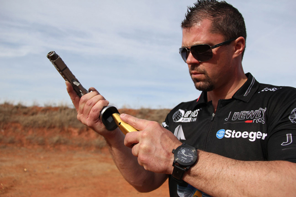 Jesse Tischauser 3-Gun Competitor with Morpheus 1911 Watch