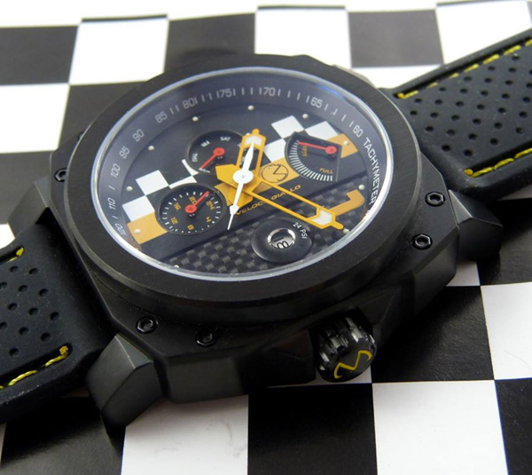 Morpheus Veloce Giallo racing watch with tachymeter